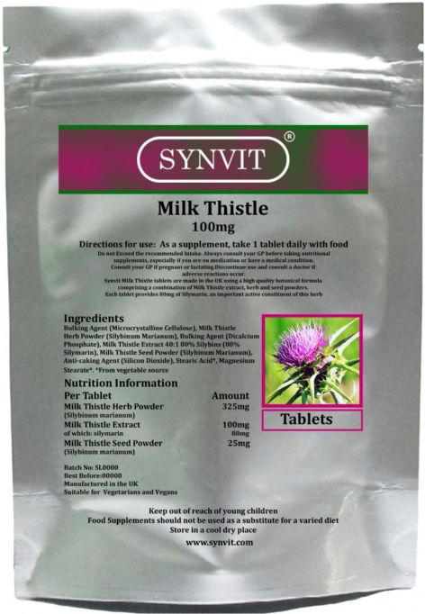 Milk Thistle tablets SYNVIT®